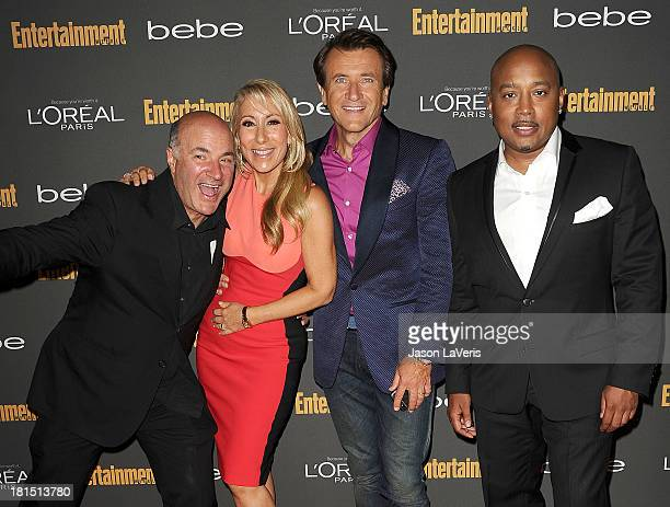 Kevin O'Leary Lori Greiner Robert Herjavec and Daymond John attend the Entertainment Weekly preEmmy party at Fig Olive Melrose Place on September 20...