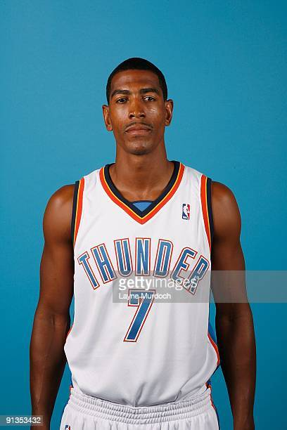 Kevin Ollie of the Oklahoma City Thunder poses for a portrait during 2009 NBA Media Day on September 28 2009 at the Cox Convention Center in Oklahoma...