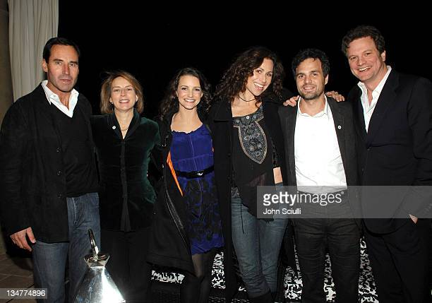 Kevin O'Malley publisher of Esquire Janet McKinley chair of Oxfam Kristin Davis Minnie Driver Mark Ruffalo and Colin Firth