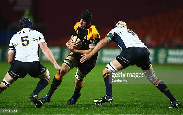 Kevin O'Neil of the Chiefs in action during the round 14 Super 14 match between the Chiefs and the Brumbies at Waikato Stadium on May 15 2009 in...