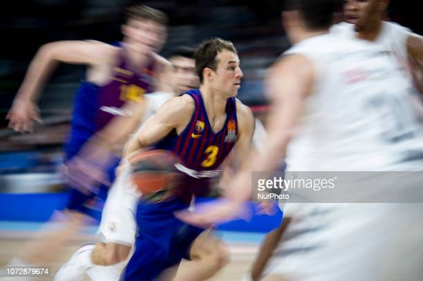 Kevin Pangos of FC Barcelona Lassa during Turkish Airlines Euroleague match between Real Madrid and FC Barcelona Lassa at Wizink Center in Madrid...
