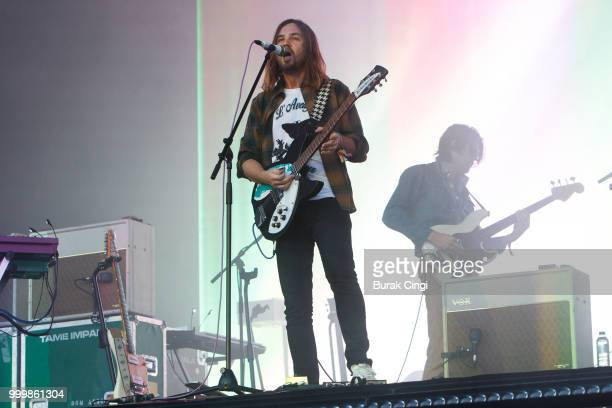 Kevin Parker of Tame Impala performs at Citadel festival at Gunnersbury Park on July 15 2018 in London England