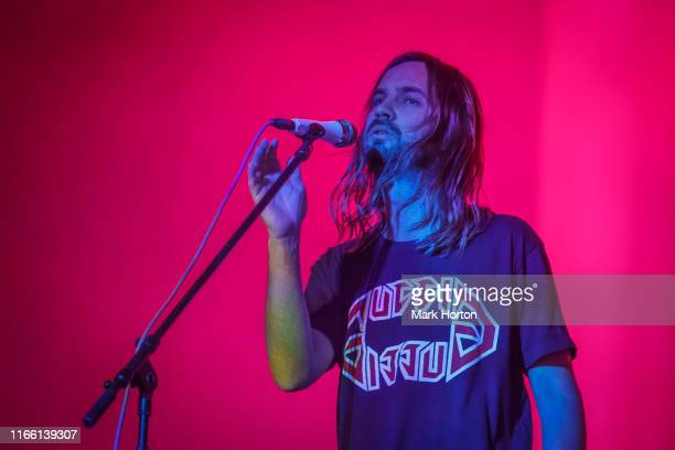 Kevin Parker of Tame Impala performs at the Osheaga Music and Art Festival at Parc JeanDrapeau on August 04 2019 in Montreal Canada