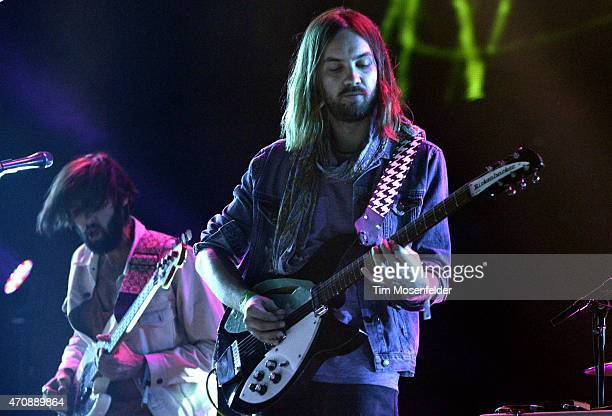 Kevin Parker of Tame Impala performs during the 2015 Coachella Valley Music And Arts Festival at The Empire Polo Club on April 17 2015 in Indio...