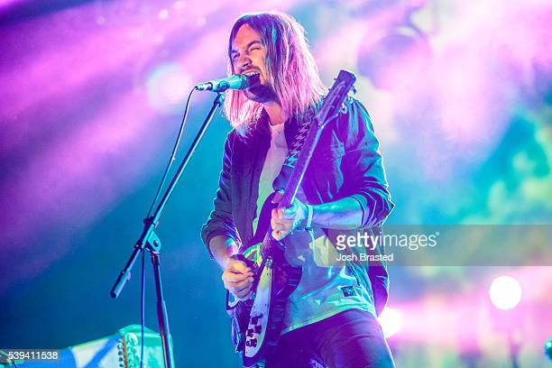 Kevin Parker of Tame Impala performs during the Bonnaroo Music & Arts Festival on June 10, 2016 in Manchester, Tennessee.