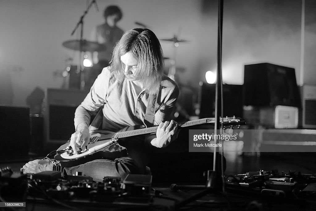 Kevin Parker of Tame Impala performs for fans at Enmore Theatre on December 13, 2012 in Sydney, Australia.