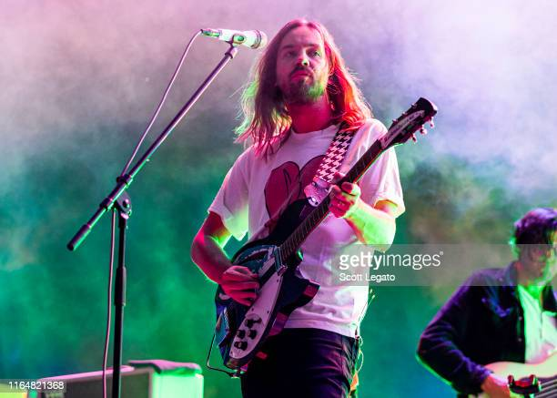 Kevin Parker of Tame Impala performs on day 2 of MoPop Festival at West Riverfront Park on July 28 2019 in Detroit Michigan