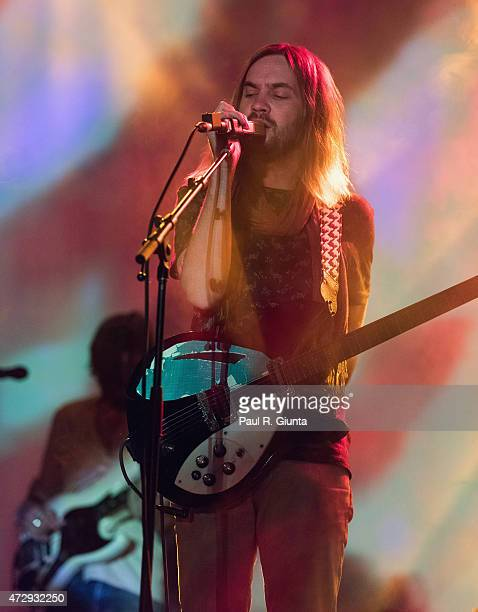 Kevin Parker of Tame Impala performs on stage during day 3 of the 3rd Annual Shaky Knees Music Festival at Atlanta Central Park on May 10, 2015 in...