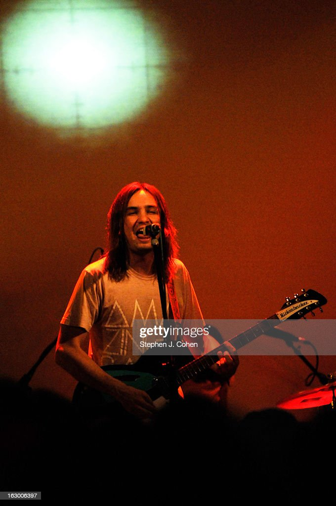 Kevin Parkerof Tame Impala performs at Headliners Music Hall on March 2, 2013 in Louisville, Kentucky.