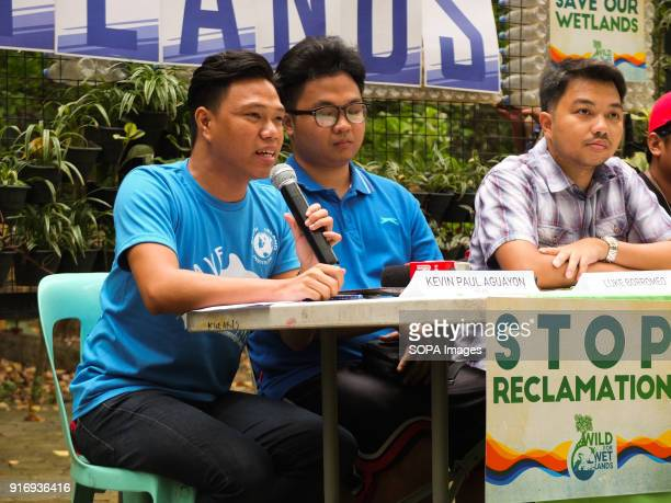 Kevin Paul Aguayon NILAD spokesperson giving his insights The Green groups NILAD and the organizations under the Wild for Wetlands Network including...
