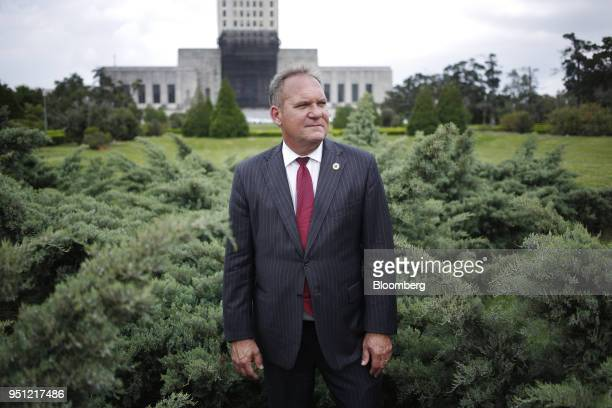Kevin Pearson a Republican member of the Louisiana House of Representatives stands for a photograph outside the Louisiana State Capitol in Baton...