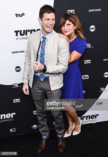 Kevin Pereira and Brooke Van Poppelen attend the 2016 Turner Upfront at Nick Stef's Steakhouse on May 18 2016 in New York New York