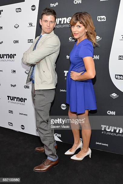 Kevin Pereira and Brooke Van Poppelen attend the Turner Upfront 2016 at Nick Stef's Steakhouse on May 18 2016 in New York City