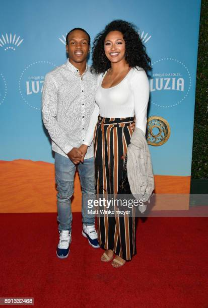 Kevin Peterson and Tori Cole attend Cirque du Soleil presents the Los Angeles premiere event of 'Luzia' at Dodger Stadium on December 12 2017 in Los...