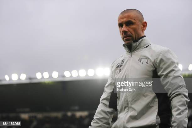 Kevin Phillips assistant coach at Derby County looks on during the Sky Bet Championship match between Derby County and Burton Albion at iPro Stadium...