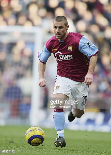 Kevin Phillips of Aston Villa in action during the Barclays Premiership match between Aston Villa and Newcastle at Villa Park on February 11 2006 in...