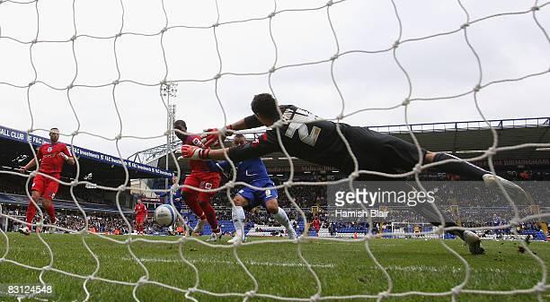 Kevin Phillips of Birmingham City scores past Radek Cerny of QPR during the Coca Cola Championship match between Birmingham City and Queens Park...