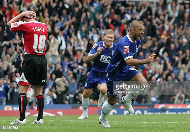 Kevin Phillips of Birmingham City scores their wining goal in the last few minutes of the game during the CocaCola Championship match between...