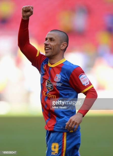 Kevin Phillips of Crystal Palace celebrates following his team's victory in extratime during the npower Championship Playoff Final match between...