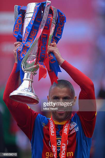 Kevin Phillips of Crystal Palace celebrates with the trophy following his team's victory in extratime during the npower Championship Playoff Final...