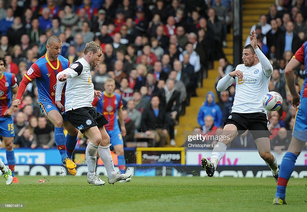 Kevin Phillips of Palace scores their second goal during the npower Championship match between Crystal Palace and Peterborough United at Selhurst Park on May 04, 2013 in London, England.