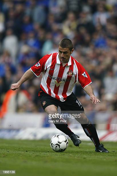 Kevin Phillips of Sunderland runs with the ball during the FA Barclaycard Premiership match between Birmingham City and Sunderland held on April 12...