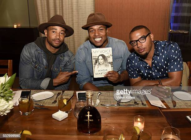 Kevin Phillips Sheldon Candis and Julian Mitchell attend D'USSE Dinner Series With Angie Martinez My Voice at BOA Steakhouse on May 19 2016 in West...