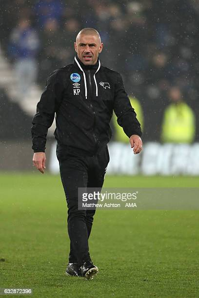 Kevin Phillips the assistant coach of Derby County during the Emirates FA Cup Fourth Round match between Derby County and Leicester City at iPro...