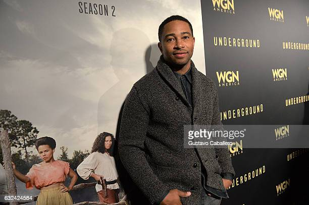 Kevin Phillps attends WGN America's 'Underground' Season Two Party hosted by John Legend at 2017 Sundance Film Festival on January 21 2017 in Park...