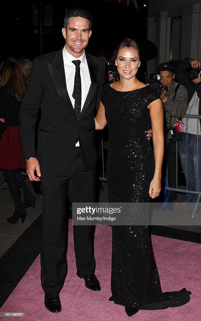 Kevin Pietersen and Jessica Taylor attend the Boodles Boxing Ball at the Grosvenor House Hotel on September 21, 2013 in London, England.