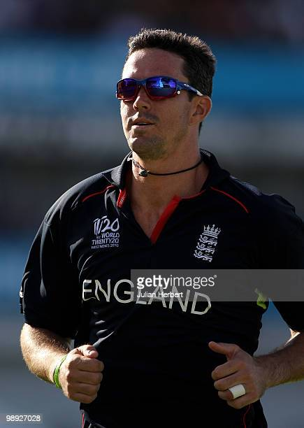 Kevin Pietersen of England in the field during the ICC World Twenty20 Super Eight Match between England and South Africa played at the Kensington...