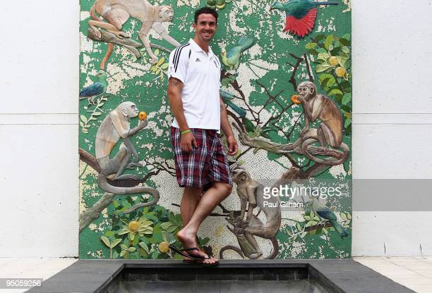Kevin Pietersen of England poses at the team hotel during the England cricket tour on December 23 2009 in Durban South Africa