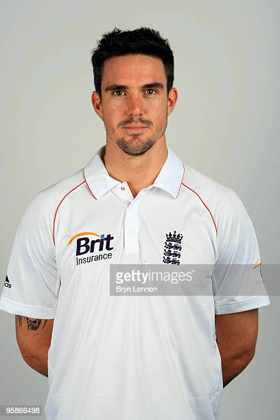 Kevin Pietersen of England poses for the team portraits at the ECB Centre at University on October 28 2009 in LoughbroughEngland