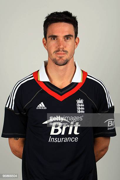 Kevin Pietersen of England poses for the team portraits at the ECB Centre at University on October 28, 2009 in Loughbrough,England.