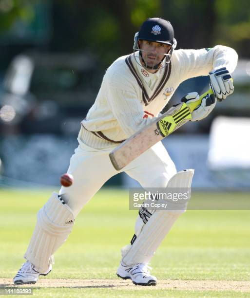 Kevin Pietersen of Surrey bats during day three of the LV County Championship Division One match between Worcestershire and Surrey at New Road on May...