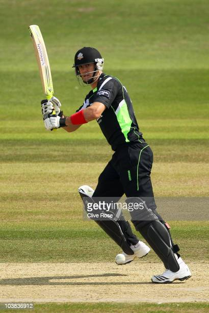 Kevin Pietersen of Surrey in action during the Clydesdale Bank 40 match between Sussex and Surrey on September 4 2010 in Hove England