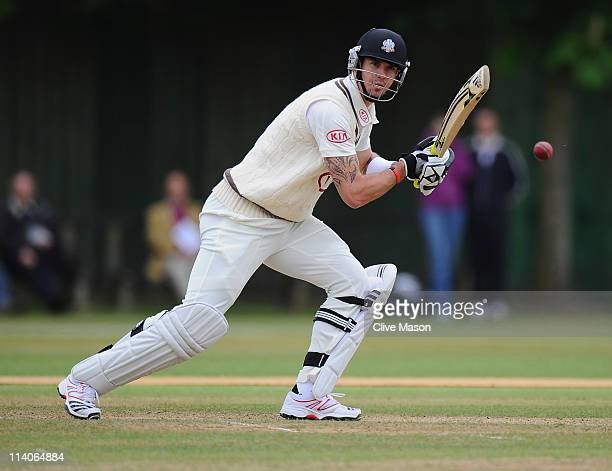 Kevin Pietersen of Surrey in action during the MCC University match between Cambridge MCCU and Surrey at Fenner's on May 11, 2011 in Cambridge,...