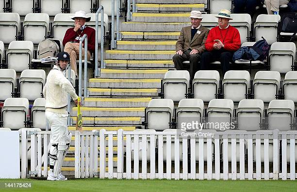 Kevin Pietersen of Surrey walks back to the palivion after being dismissed by Richard Jones of Worcestershire during day three of the LV County...