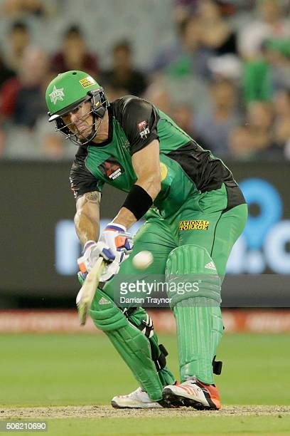 Kevin Pietersen of the Melbourne Stars bats during the Big Bash League Semi Final match between the Melbourne Stars and the Perth Scorchers at...