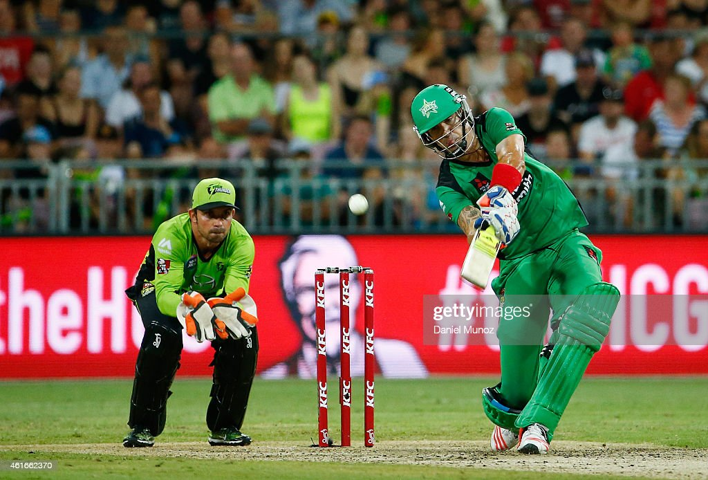 Kevin Pietersen of the Stars bats during a Big Bash League match between the Sydney Thunder and the Melbourne Stars at Spotless Stadium on January 17, 2015 in Sydney, Australia.