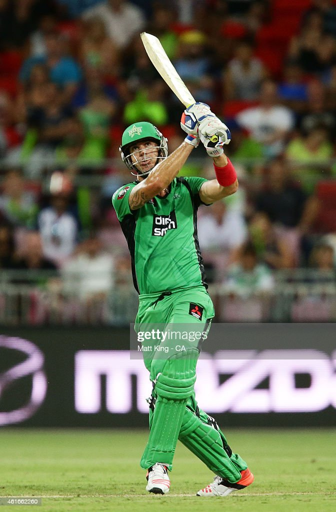 Kevin Pietersen of the Stars bats during the Big Bash League match between the Sydney Thunder and the Melbourne Stars at Spotless Stadium on January 17, 2015 in Sydney, Australia.