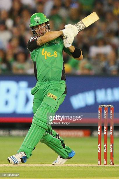 Kevin Pietersen of the Stars bats during the Big Bash League match between the Melbourne Stars and the Adelaide Strikers at Melbourne Cricket Ground...