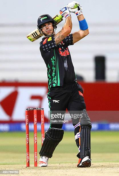 Kevin Pietersen of the Sunfoli Dolphinsduring the Ram Slam T20 Challenge match between Sunfoil Dolphins and bizhub Highveld Lions at Sahara Stadium...