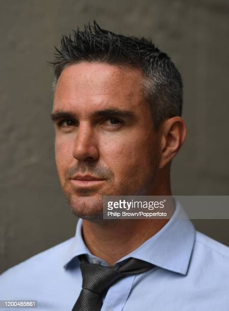 Kevin Pietersen poses for a photograph in a rain break during Day Four of the Third Test between England and South Africa on January 19, 2020 in Port...