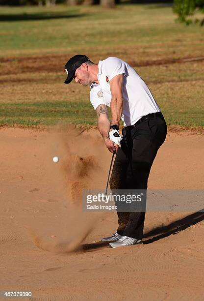 Kevin Pietersen takes part in the Momentum Sixes Golf Day on Ocotber 17 2014 at Royal Johannesburg and Kennsington Golf Club in Johannesburg South...