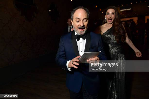 Kevin Pollak and Marin Hinkle Winners of Outstanding Performance by an Ensemble in a Comedy Series for 'The Marvelous Mrs Maisel' attend the 26th...