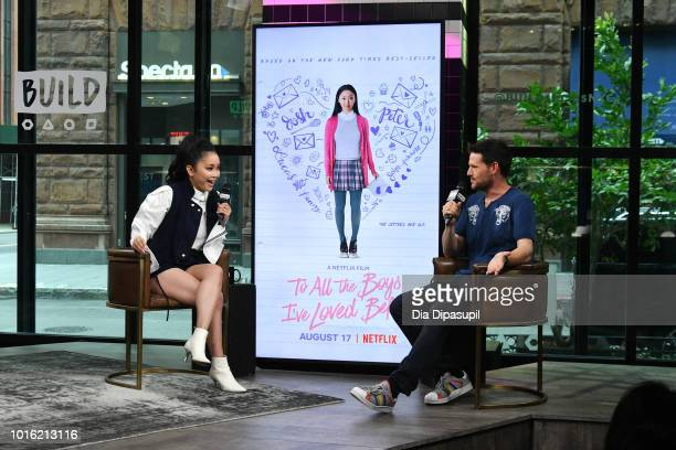 Kevin Polowy interviews Lana Condor during her visit to the Build Series to discuss 'To All the Boys I've Loved Before' at Build Studio on August 13...