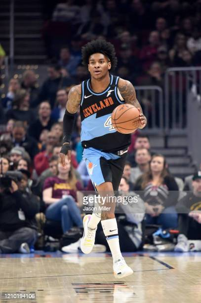 Kevin Porter Jr. #4 of the Cleveland Cavaliers drives down court during the first half against the Utah Jazz at Rocket Mortgage Fieldhouse on March...