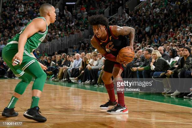 Kevin Porter Jr. #4 of the Cleveland Cavaliers handles the ball against the Boston Celtics on December 27, 2019 at the TD Garden in Boston,...