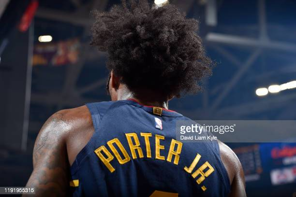Kevin Porter Jr. #4 of the Cleveland Cavaliers looks on during the game against the Minnesota Timberwolves on January 5, 2020 at Rocket Mortgage...